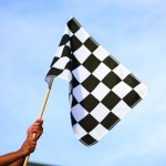 F1 contest checkered flag